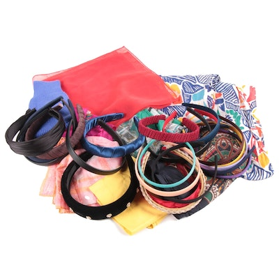 Scarves and Headbands Including Silk