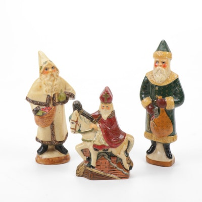 Gorham Vaillancourt Folk Art Santa Figurines