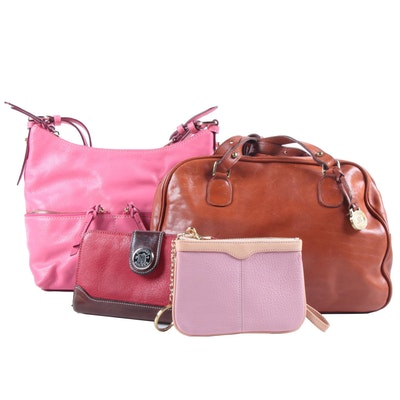 Dooney & Bourke and Brahmin Leather Shoulder Bags, Wristlet and Wallet