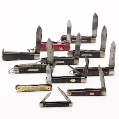 Folding Knives by KA-BAR, Colonial, Imperial, and More, Vintage