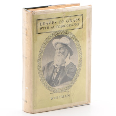 "Walt Whitman's ""Leaves of Grass"" with Scarce Dust Jacket, 1900"