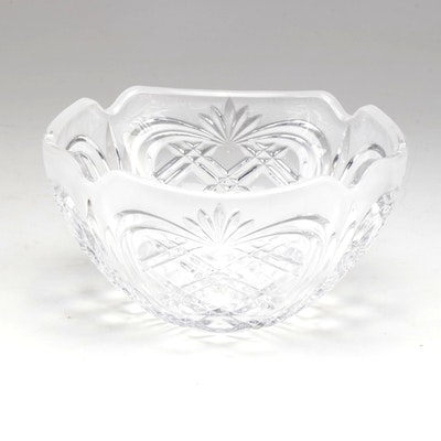 Fostoria Pineapple Cut Crystal Bowl