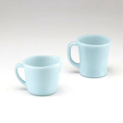 Anchor Hocking Fire King Jadeite Cup and Creamer, circa 1950s