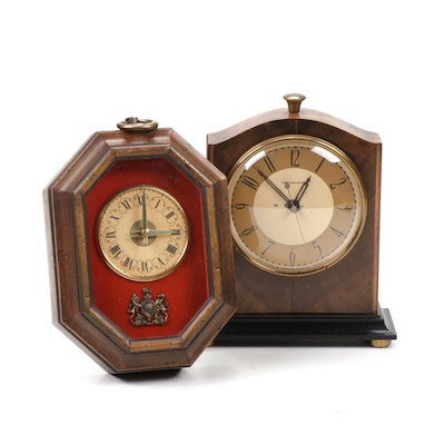 Vintage Wooden Wall and Shelf Clocks