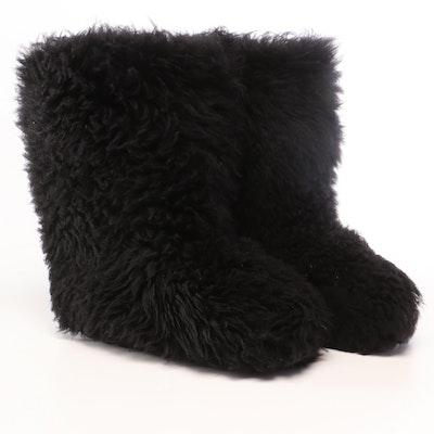 UGG Australia Black Fluff Momma Shearling Boots
