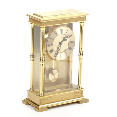 Schmid Schlenker German Brass Shelf Clock
