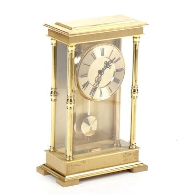 Schmid Schlenker German Brass Shelf Clock
