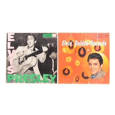 "Elvis Presley Record Albums including ""Elvis' Golden Records"" LP, 1950s"