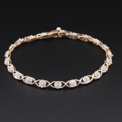 10K Yellow Gold 1.00 CTW Diamond Bracelet