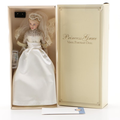 "The Franklin Mint ""Princess Grace"" Vinyl Portrait Doll with Box, Late 20th C."