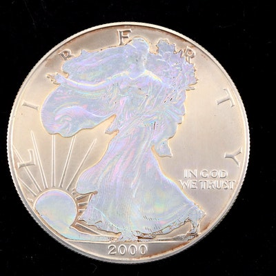 2000 Hologram American Silver Eagle $1 Coin