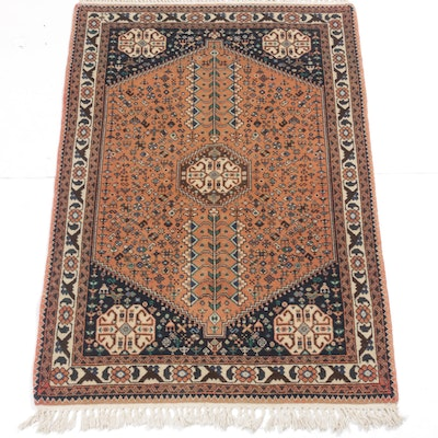 3'5 x 5'4 Hand-Knotted Persian Abbadeh Shiraz Rug, circa 1970s