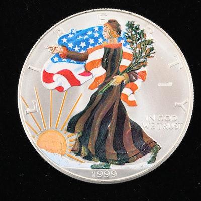Colorized 1999 American Silver Eagle $1 Coin