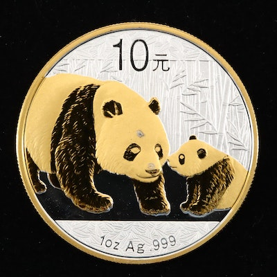 2011 Chinese Ten Yuan .999 Silver Panda Proof Coin