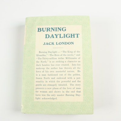 "1910 First Edition ""Burning Daylight"" by Jack London with Facsimile Dust Jacket"