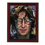 """Adam Deda Oil Portrait Oil Painting of John Lennon """"Imagine"""""""