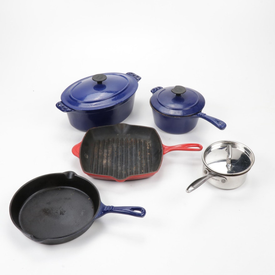 Cookware with Range Kleen Enamelled Cast Iron and Cuisinart