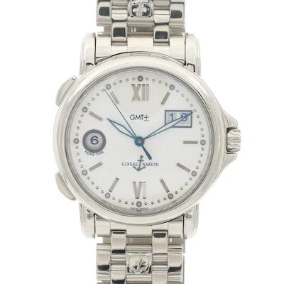 Ulysse Nardin San Marco GMT Automatic Stainless Steel Wristwatch