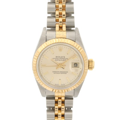 18K Gold and Stainless Steel Rolex Datejust Wristwatch