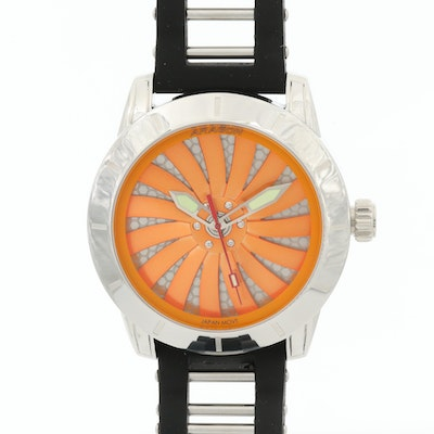 Aragon Time Machine Stainless Steel Automatic Wristwatch