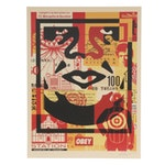 "Shepard Fairey Offset Print ""OBEY 3-Face Collage"""