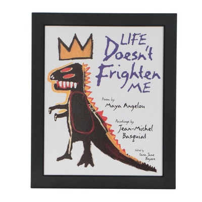 "Giclée after Jean-Michel Basquiat Book Cover for ""Life Doesn't Frighten Me"""