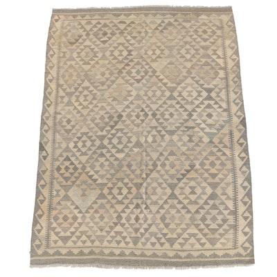 Handwoven Afghan Wool Slitweave Kilim