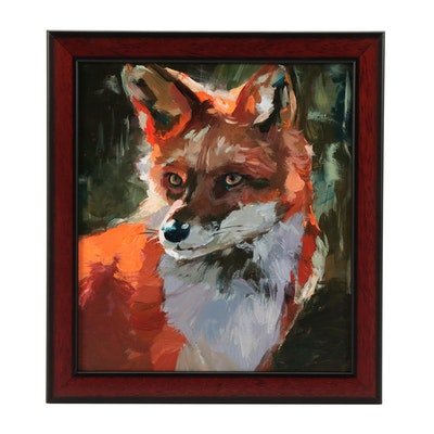 "Adam Deda Oil Painting ""Red Fox"""