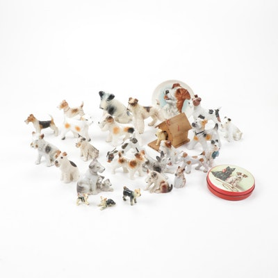 Porcelain and Ceramic Terrier Figurines and Decor
