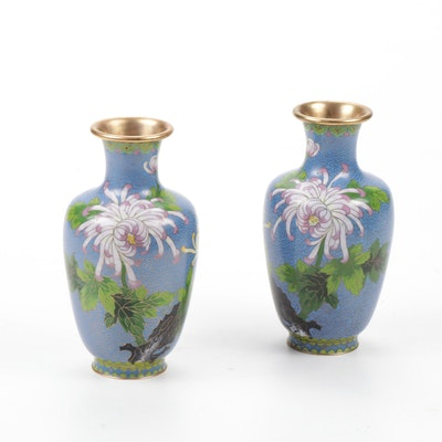 Zi Jin Cheng Cloisonné Vases