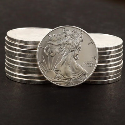 U.S. Mint Roll of Twenty Uncirculated 2013 American Silver Eagle Bullion Coins