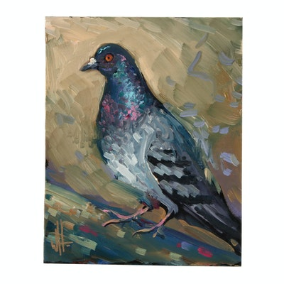 William Hawkins Oil Painting of Bird