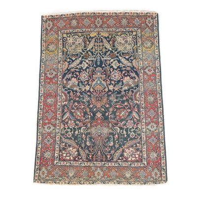 Hand-Knotted Persian Tabriz Wool Area Rug