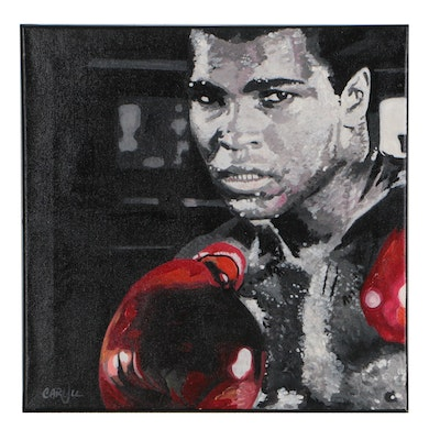 Chris Cargill Acrylic Painting of Muhammad Ali