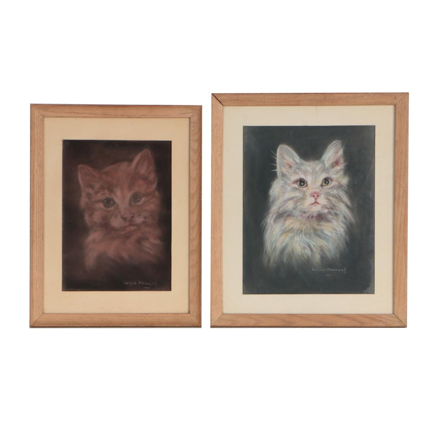 Helen Manning Pastel Portraits of Cats