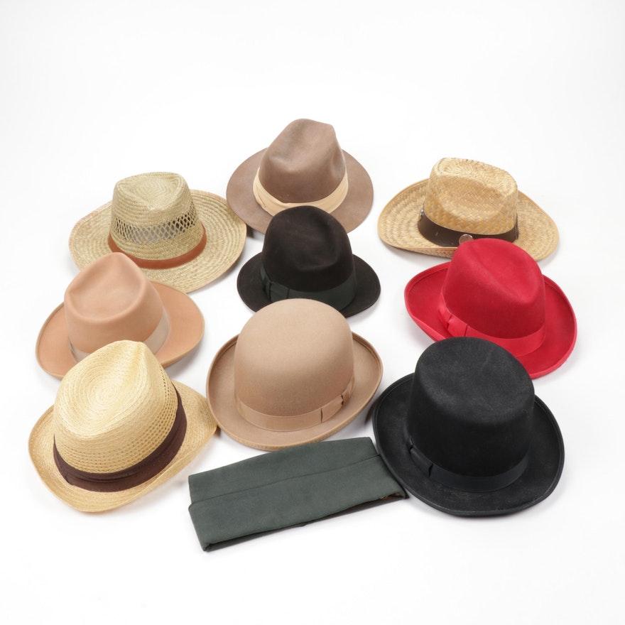 Men's Woven and Felt Hats, Vintage