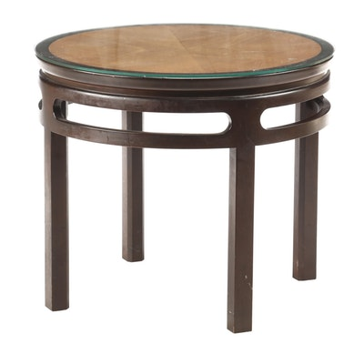 Michael Taylor for Baker, Teak and Walnut Chinoiserie Side Table, Circa 1960