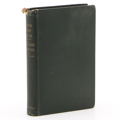 """Scarce 1894 First Edition """"Travel and Adventures in Congo Free State"""" by N'zau"""