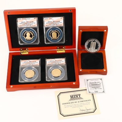 2009 Presidential Proof Dollar Set and Sept. 11th Commemorative Silver Round