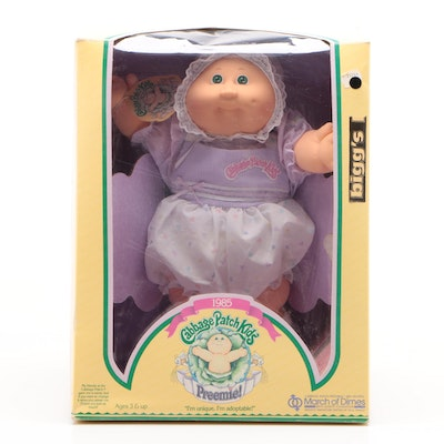 """Coleco """"Cabbage Patch Kids Preemie!"""" Doll Sealed in Original Box, 1985"""