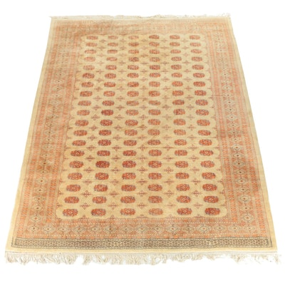 Hand-Knotted Pakistani Bokhara Wool Room Sized Rug