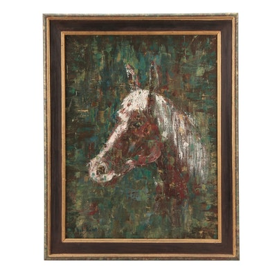 Vestal Rogers Horse Oil Painting