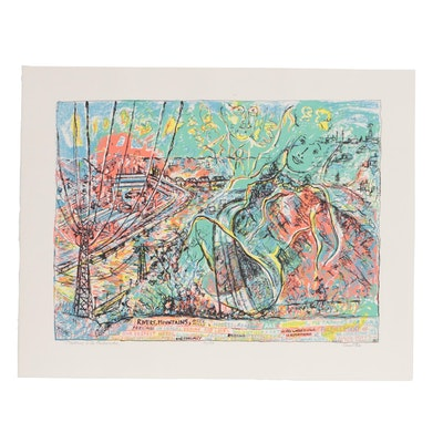 """Robert Qualters 1998 Serigraph """"Matisse a la Recherche"""""""