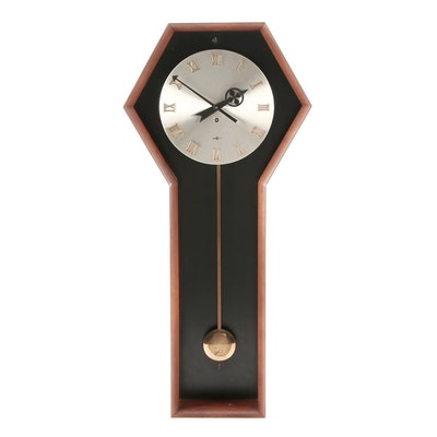 George Nelson for Howard Miller Walnut Wall Clock, Mid Century