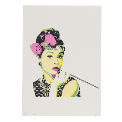 Death NYC Graphic Print Featuring Audrey Hepburn