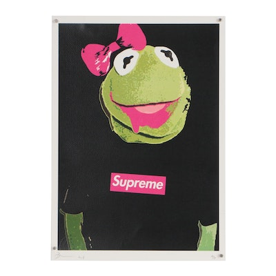 "Death NYC Graphic Print ""Supreme K Pink"""