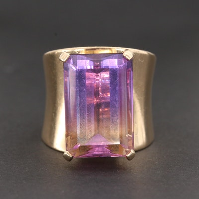 14K Yellow Gold Ametrine Ring