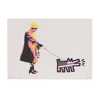 "Death NYC Graphic Print ""Queen Harin Dog Y Pink"""