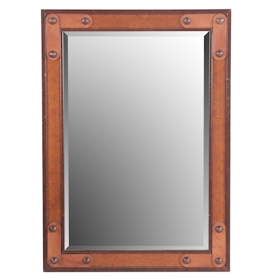 Windsor Art Wood and Leather Finish Wall Mirror