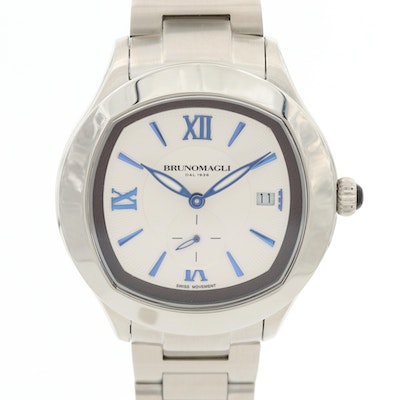 Bruno Magli Amadeo Stainless Steel Quartz Wristwatch
